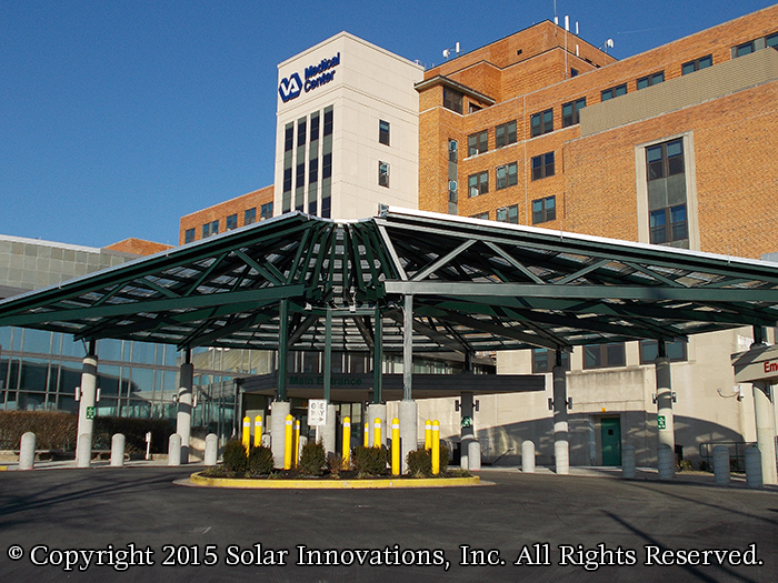 Solar Innovations, Inc. glass canopies for commercial structures