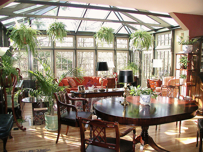Conservatories make excellent formal dining areas