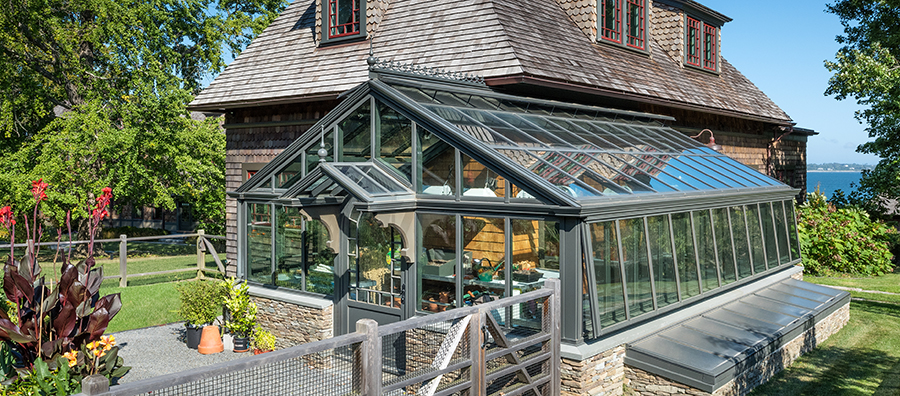 Traditional Residential Greenhouse with Custom Flair