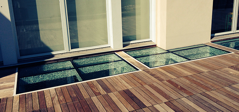 Walkable Skylights with custom shapes and configurations
