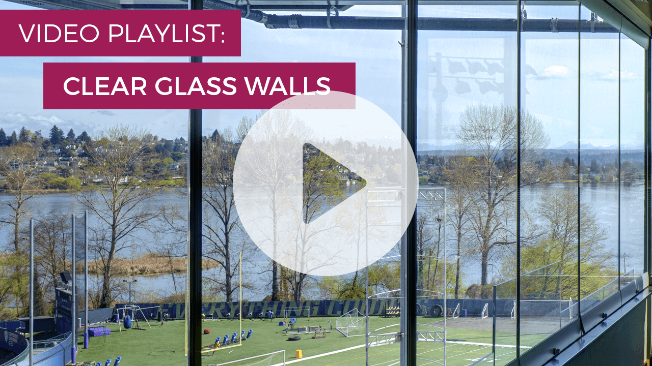 clear glass walls