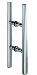 Clear Glass Wall Glass Mounted Pull Handle