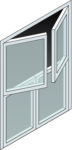 Dutch Door isometric