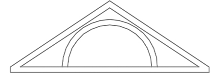 Hoffman Gable Pediment