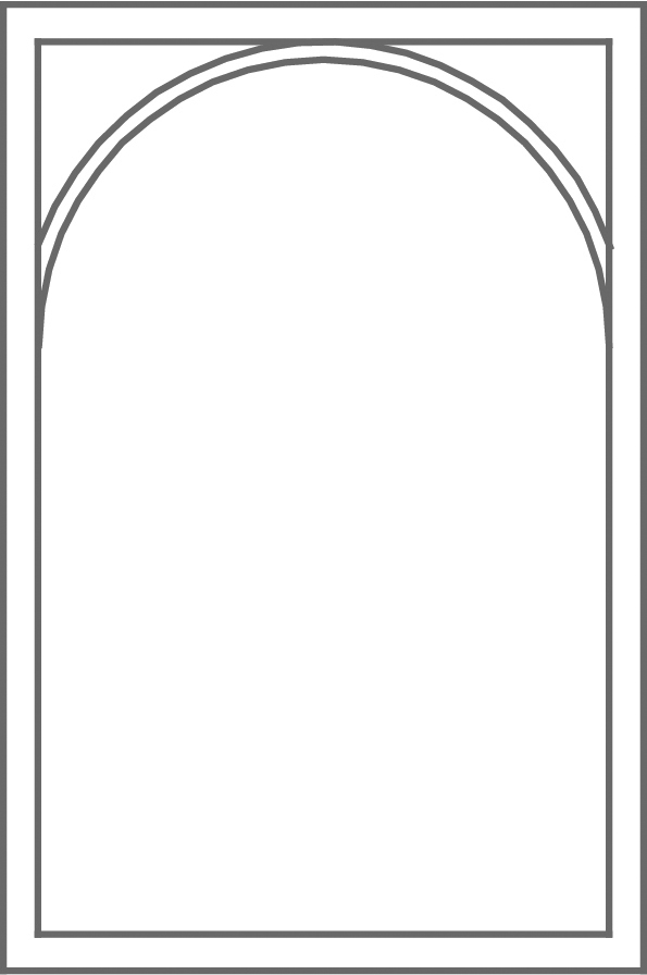 Arched grid pattern