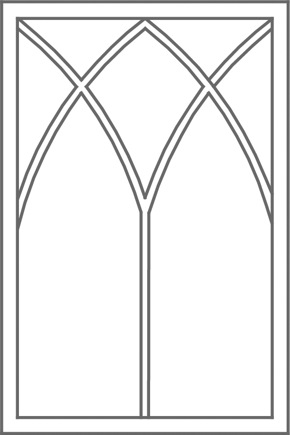 Double gothic grid pattern