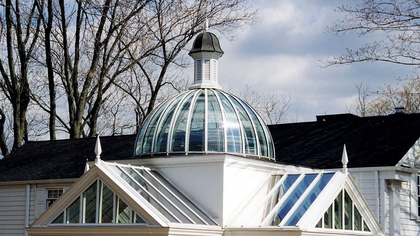 Dome skylight with cupola