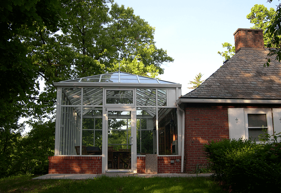 Conservatory attached to residential home.