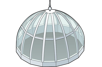 Dome Skylight Isometric Drawing