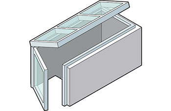 Roof Access Entryway Skylight Isometric Drawing