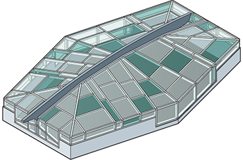 Fully customizable Skylights Isometric Drawing