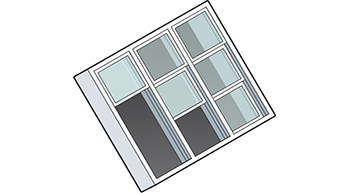 On-slope Retractable Skylight Isometric Drawing