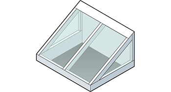 Straight Eave Lean-to Skylight Isometric Drawing