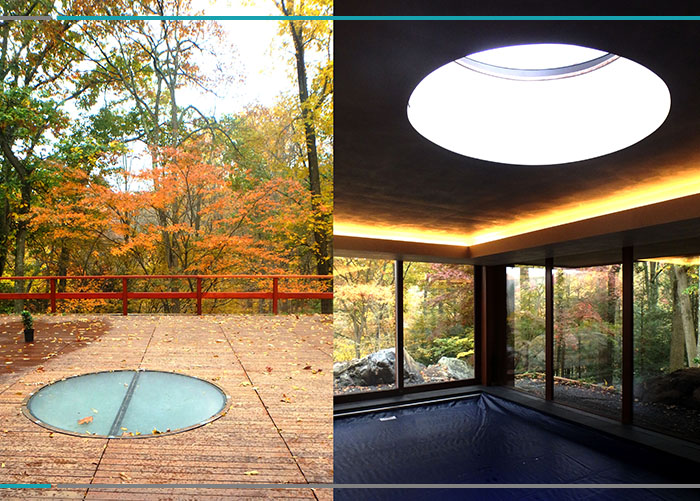 Custom Circular Walkable Skylight