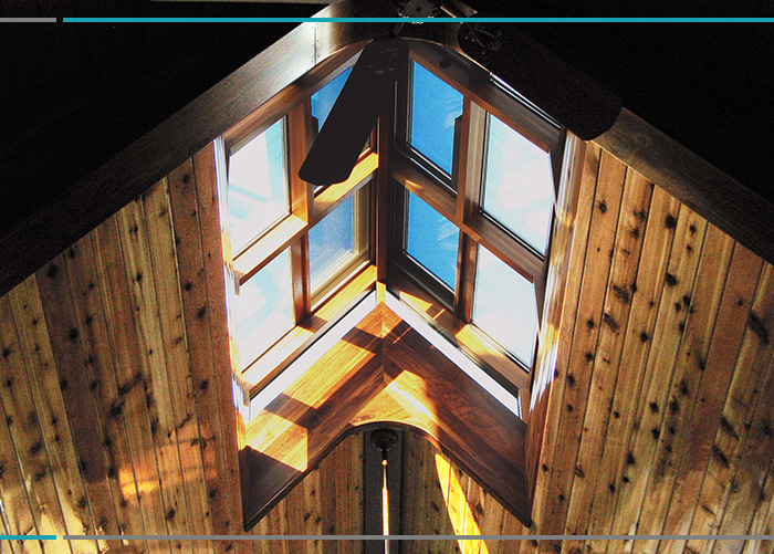 Performance and Durability in a Wood Interior Skylight
