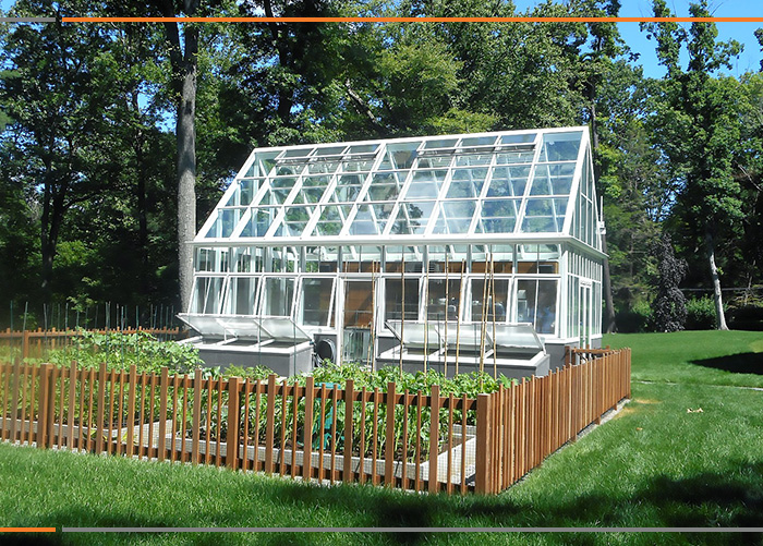 Victorian style in a modern greenhouse
