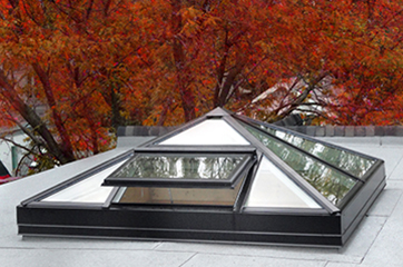 Skylights with integrated vents and custom configurations for residential applications