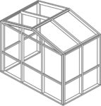 Straight eave double pitch Isometric