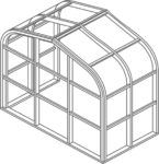 Curved eave double pitch Isometric