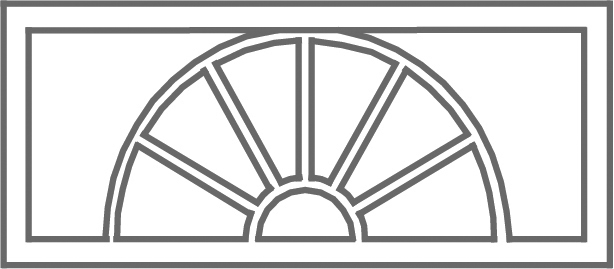 Pattern C etched transom