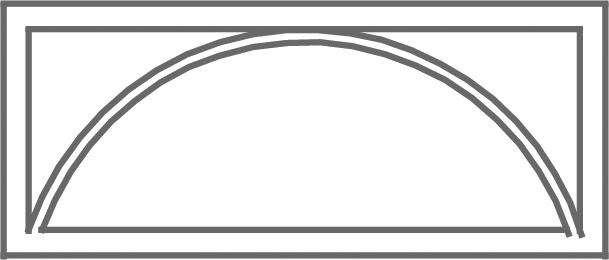 Pattern G etched transom