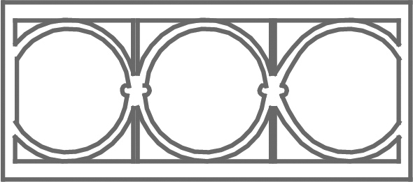 Pattern D etched transom