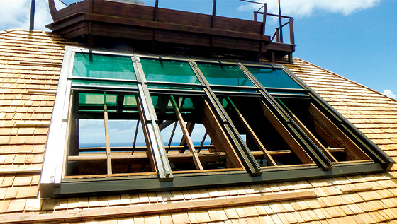 On-slope Retractable Skylight