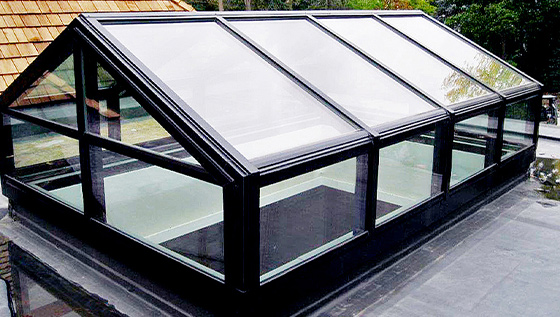 Straight Eave Double Pitch Skylight w/ Gable End