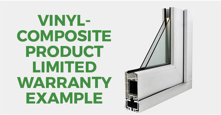 Vinyl-Composite Product Limited Warranty Example