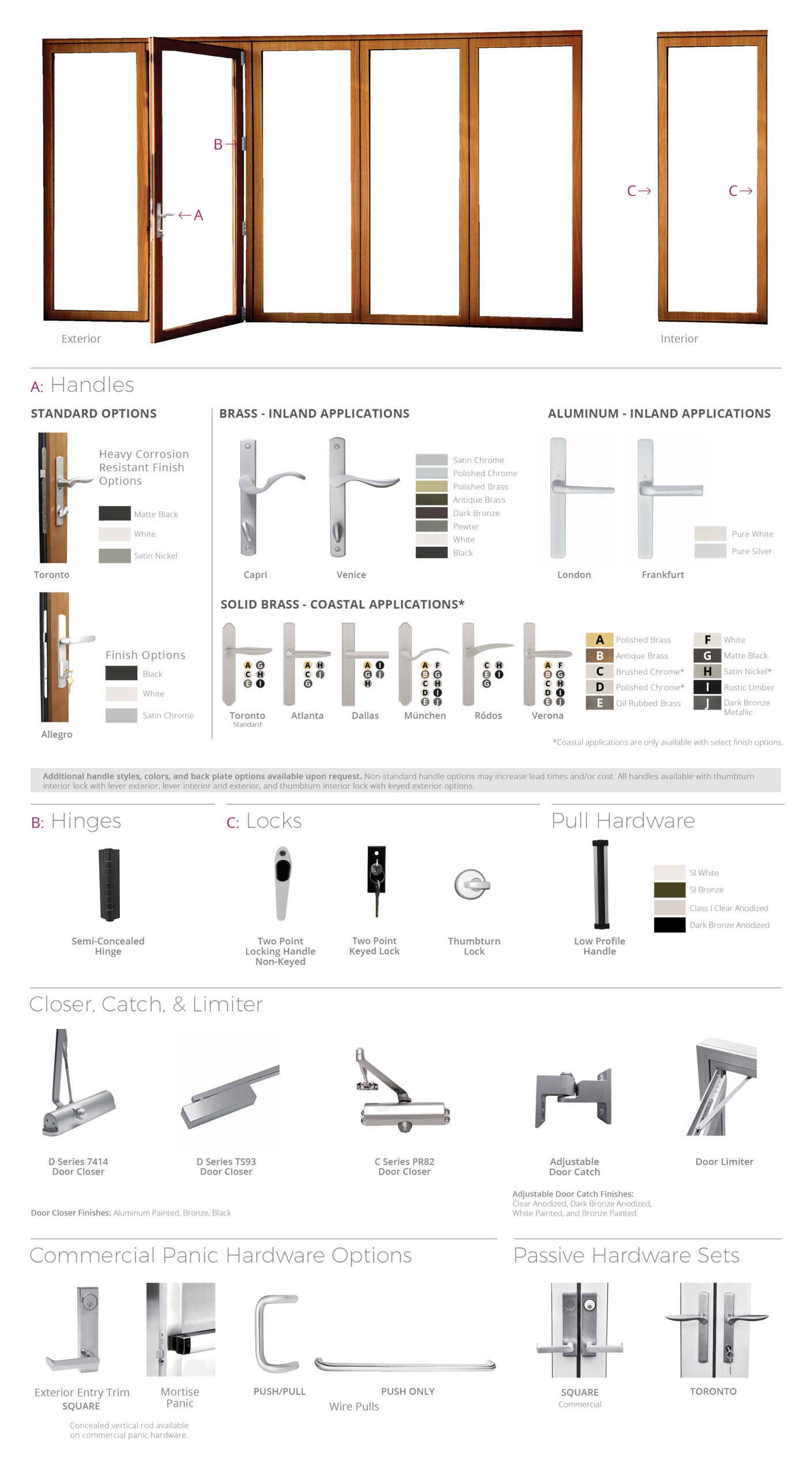 Wood Slide & Stack hardware