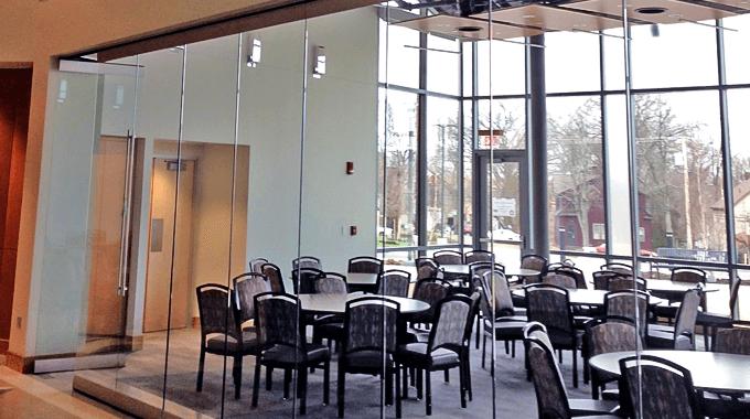 Kent State University Clear Glass Walls