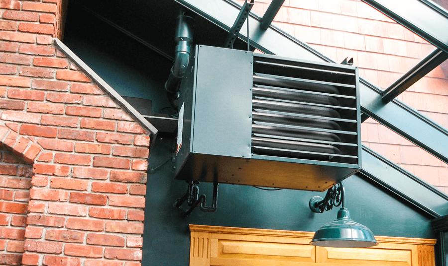 Electric Roof Hung Units That Are Ventless And A Wall Mounted Direct Vent Version Please Review The Below Diagrams For Heater Layouts