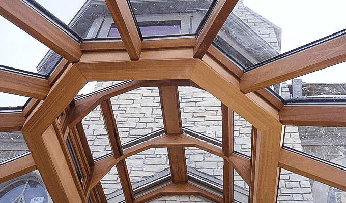 Wood Interior For A Roof Lantern